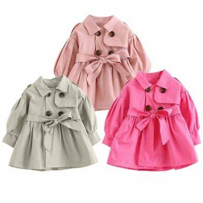 Kids Winter Trench Coat Outerwear Windbreaker Clothes