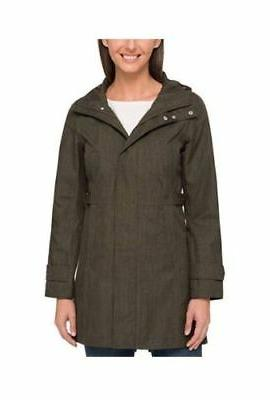Kirkland Womens Lightweight WaterProof Rain Coat Jacket w/ H
