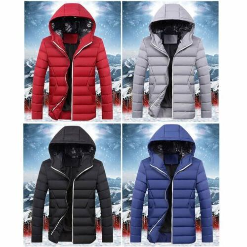 Men's Down Coat Winter Hoodie Style Outerwear Jacket Hooded