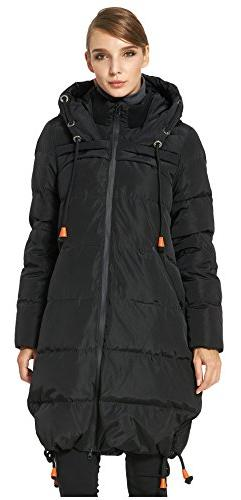 Orolay Women's Thickened Contrast Color Drawstring Down Hood