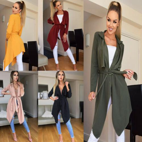 US Stock Women's Long Sleeve Jacket Cardigan Casual Blazer S