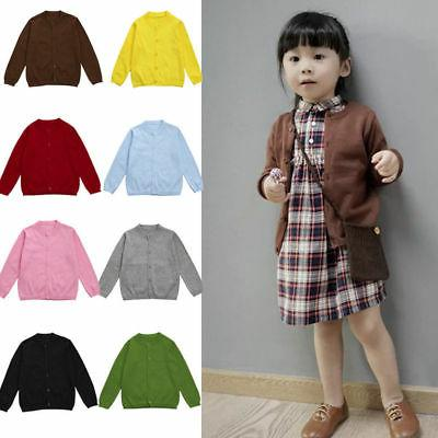 US Toddler Kids Baby Autumn S-2XL Knitted Sweater Boy Girl O