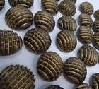 Vintage Half-Globe Geometric Shank Coat Buttons Made in Germ