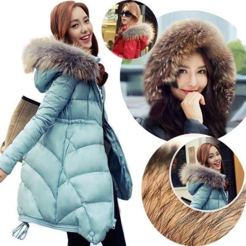 Warm Women's Winter Thicken Fur Collar Long Duck Down Jacket
