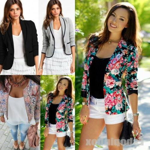 Women Long Sleeve Blazers Suit Tops Casual Office Coat Jacke