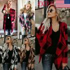 Women Long Sleeve Irregular Cardigan Jumper Top Casual Loose