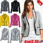 Women OL Work Ladies Long Sleeve Slim Fit Casual Blazer Suit