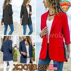 Women's No Buckle Office OL Business Suit Jackets Blazer Sho
