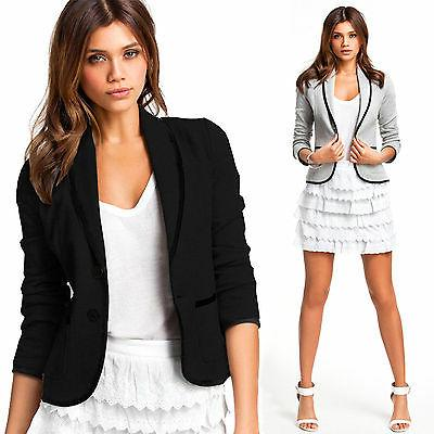 Womens Long Sleeve Blazers Suit Tops Office Casual Coat Jack