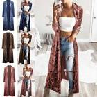 Women's Velvet Long Sleeve Casual Cardigan Long Jumper Coat