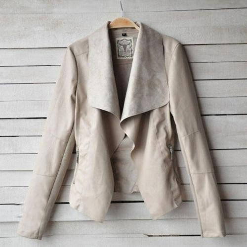 Women's Ladies Coats Up Biker Casual Flight Top Outwear