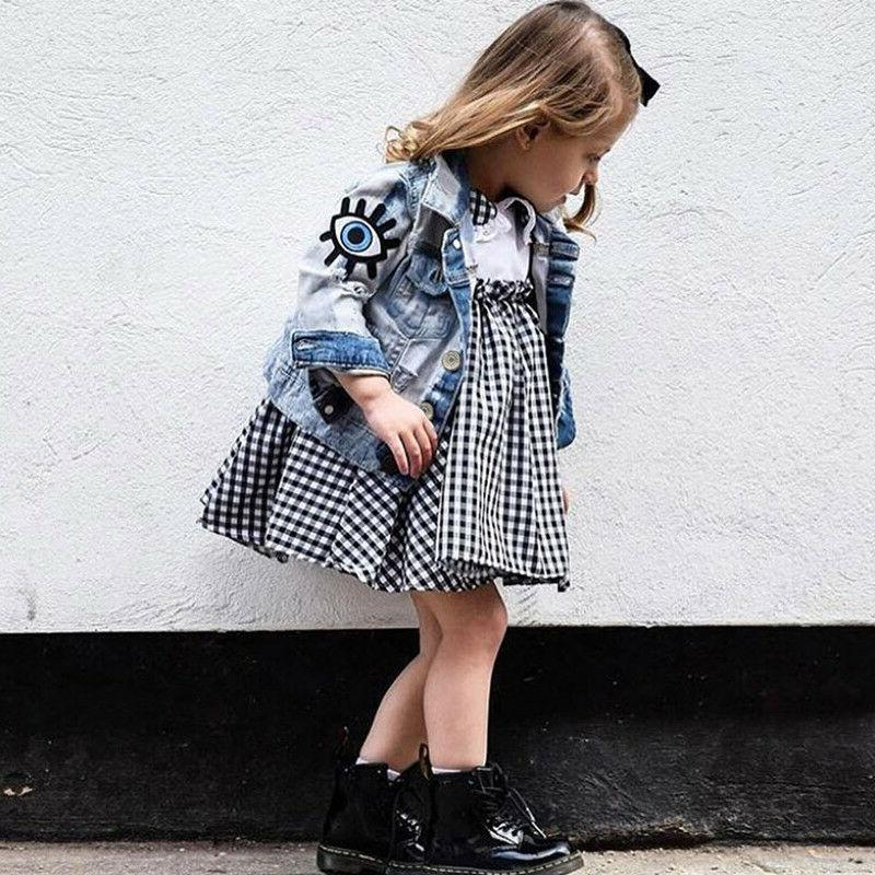 baby girls denim coats boys vintage jean