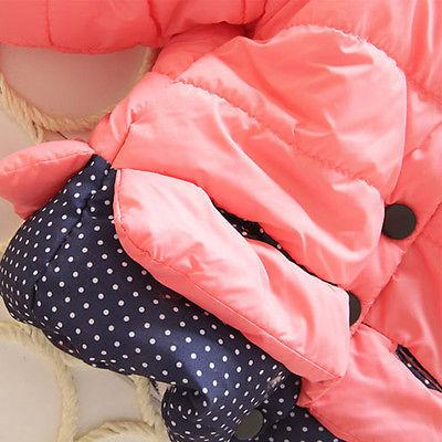 Baby Girls Mouse Coat Winter Warm 1-4T