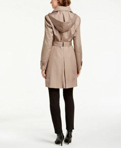 Calvin Klein Hooded Trench Beige S NEW! $99.98