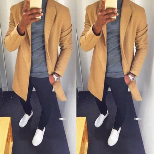 Fashion Winter Trench Overcoat Sleeve