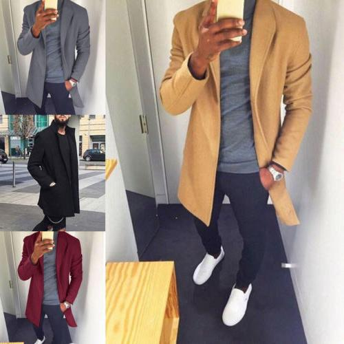 Fashion Winter Trench Overcoat