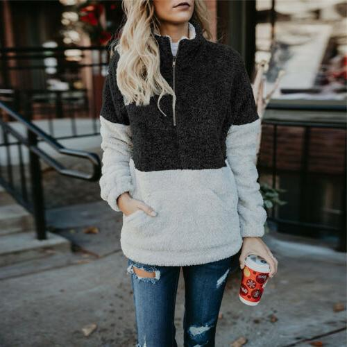 Fleece Fur Tops Warm Fluffy Fashion