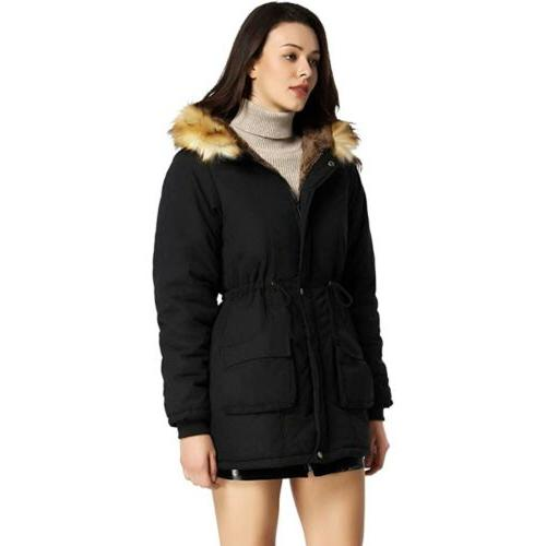 hooded coat parka anorak with faux fur
