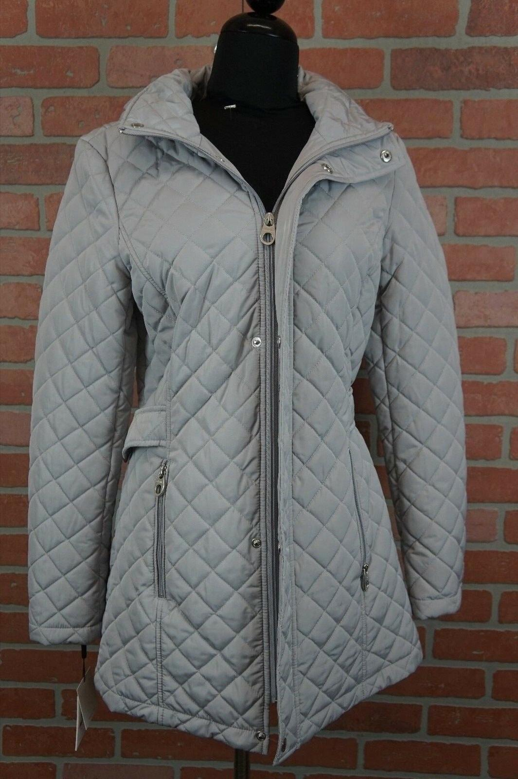 CALVIN KLEIN Hooded Quilted Coat XS