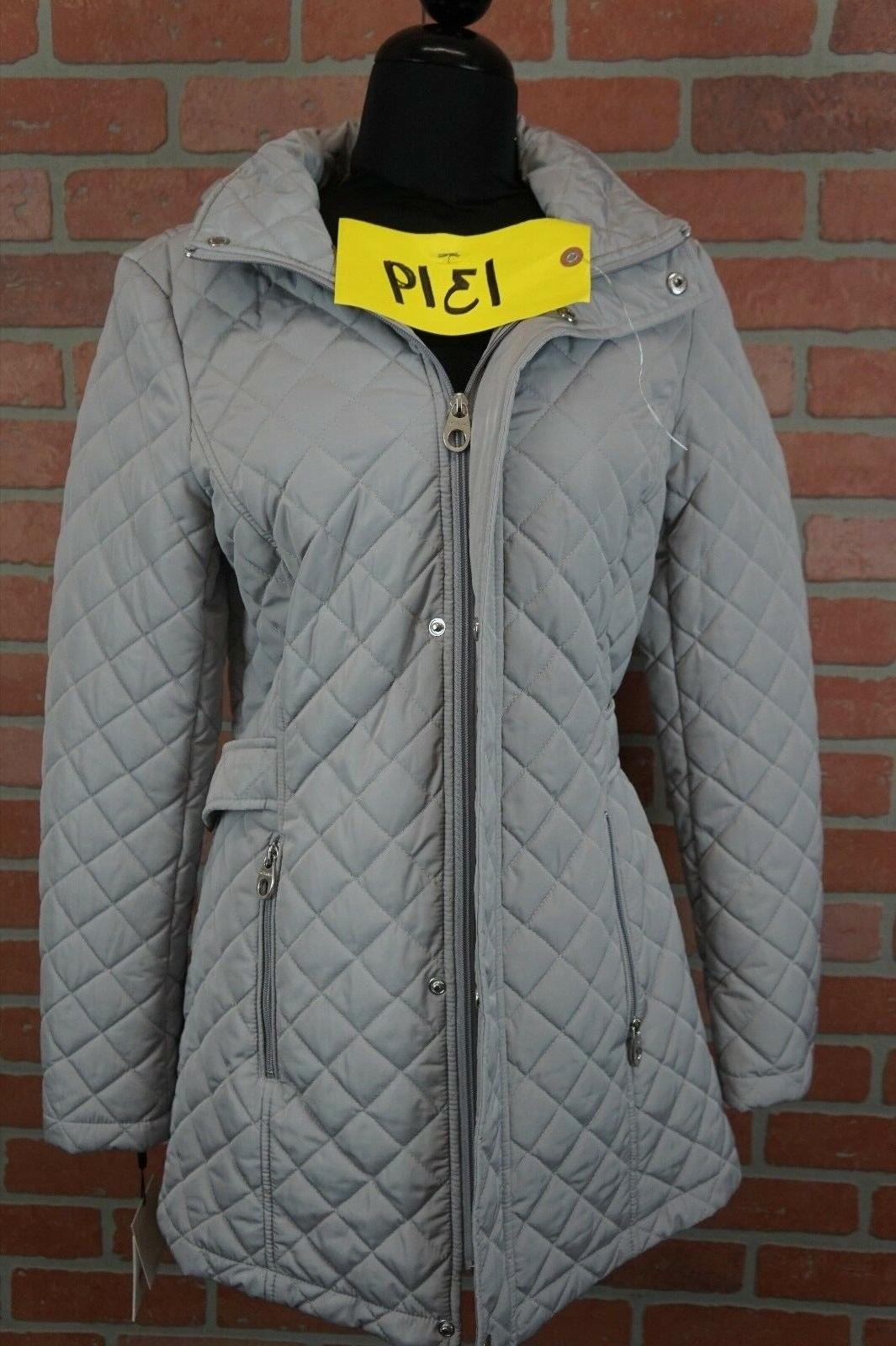 hooded quilted coat size xs