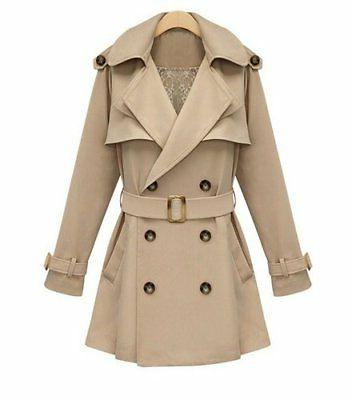 iLoveSIA Womens Coats Double Breasted Trench Coat Military S