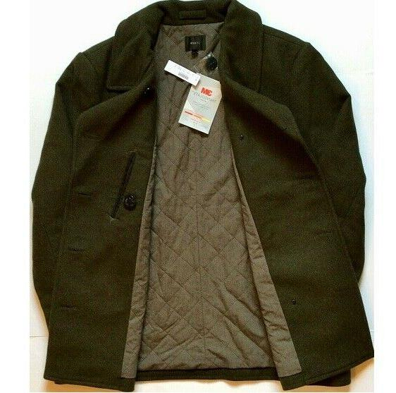 J. Crew Mens Dock Pea Coat Thinsulate Evergreen Heather 2XL