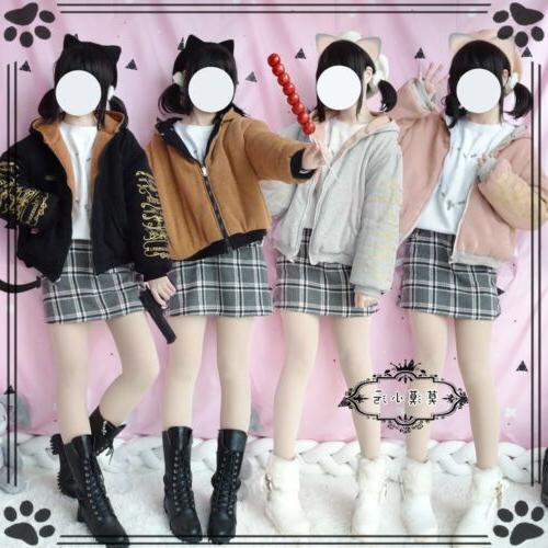 lolita girl hooded coats thicken outerwear blousons