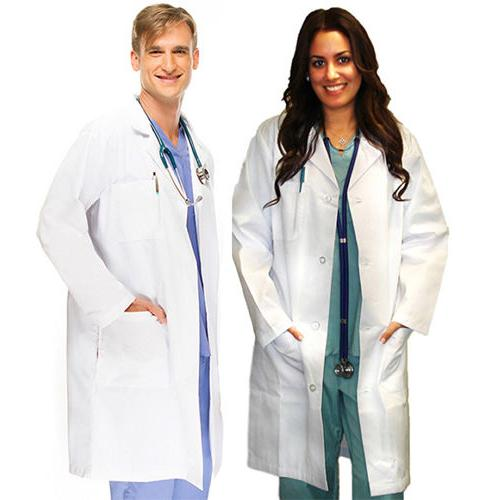 Medical White Unisex Long Lab Coats XS S M L XL 2XL 3XL For