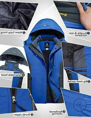 GEMYSE Mountain Waterproof Ski Jacket Windproof