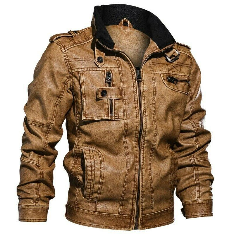 Men's Leather Biker