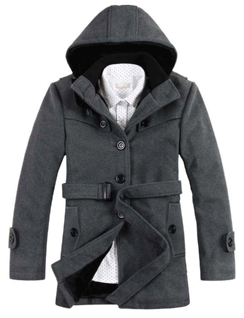 Men's Slim Padded Hooded Coats