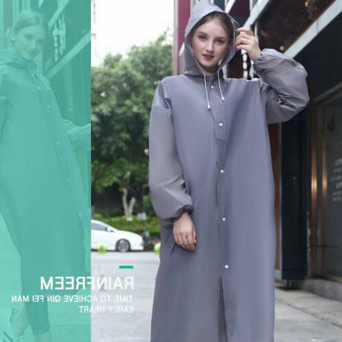 Men Women Waterproof PE Raincoat Coat Rainwear