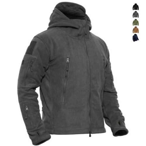 mens outdoor winter fleece tactical army jacket