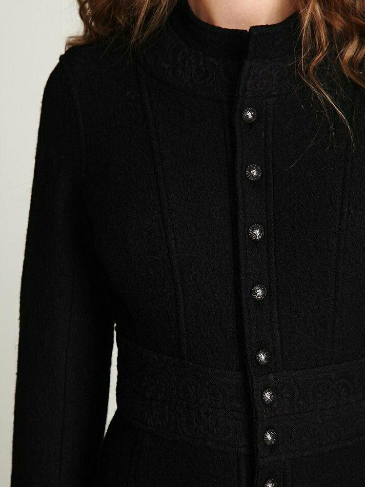 NWOT Free People Victorian Wool Duster Coat Size