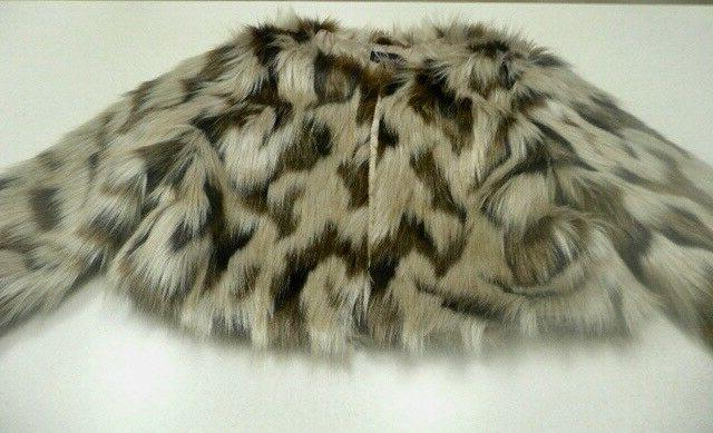 NWT Cute Lined Faux Fur Short Jacket/Coat Size large  Perfe