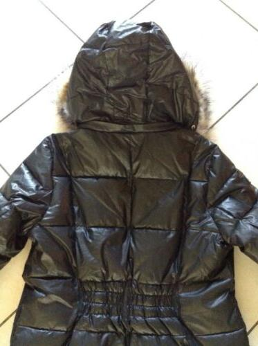NWT Calvin Hooded Long in Jet L