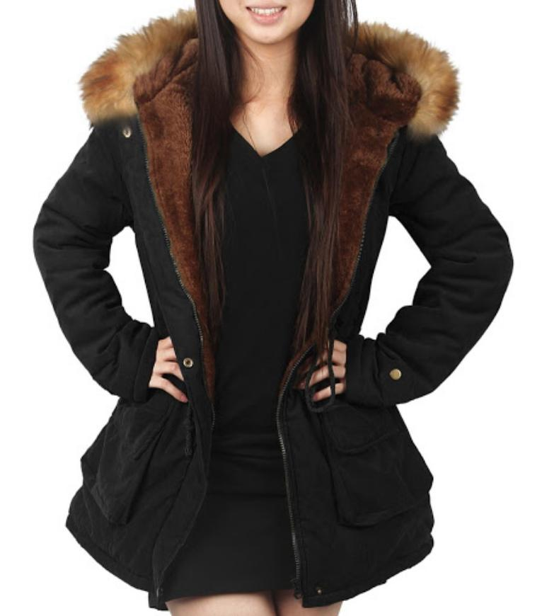 NWT Women's Hooded Faux Fur Lined 10US
