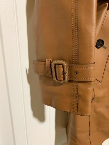 NWT COACH LEATHER TRENCH 0 Retail