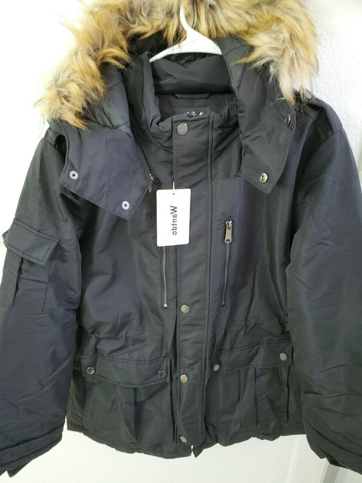 nwt women s thickened parka coat w