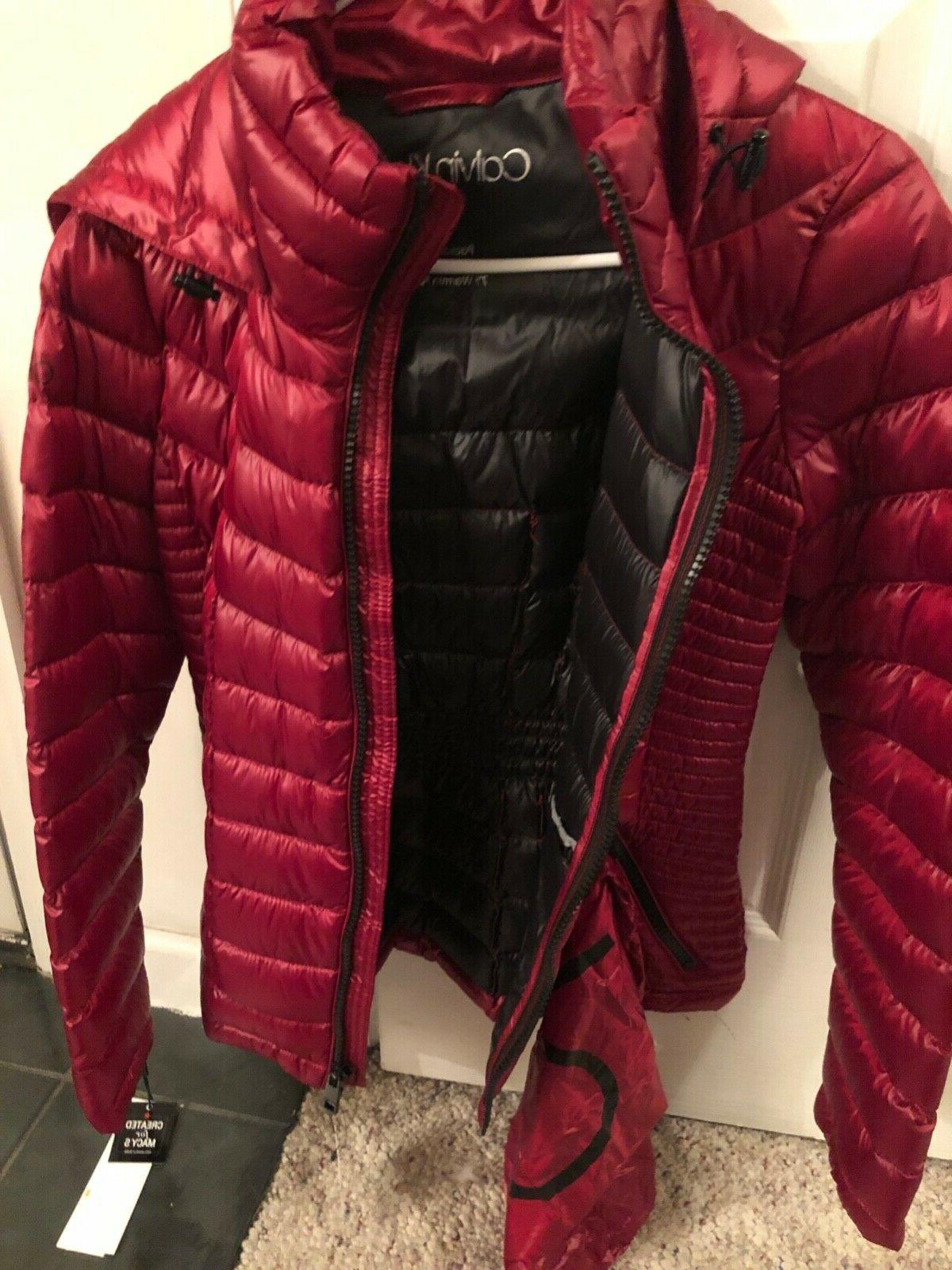 nwt womens small packable down puffer coat