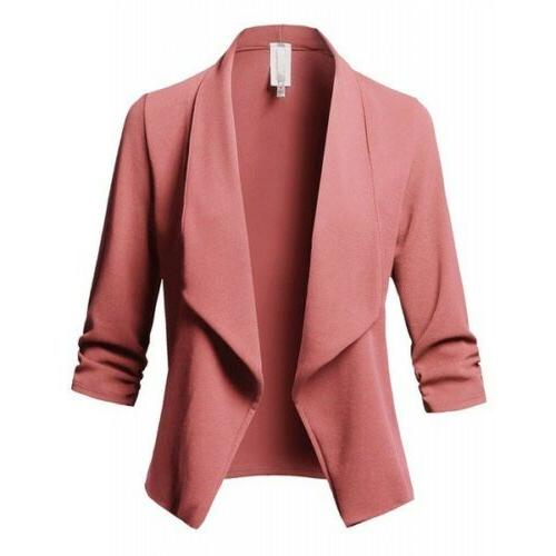 Women Slim Casual Blazer Jacket Coat Tops Outwear Plus