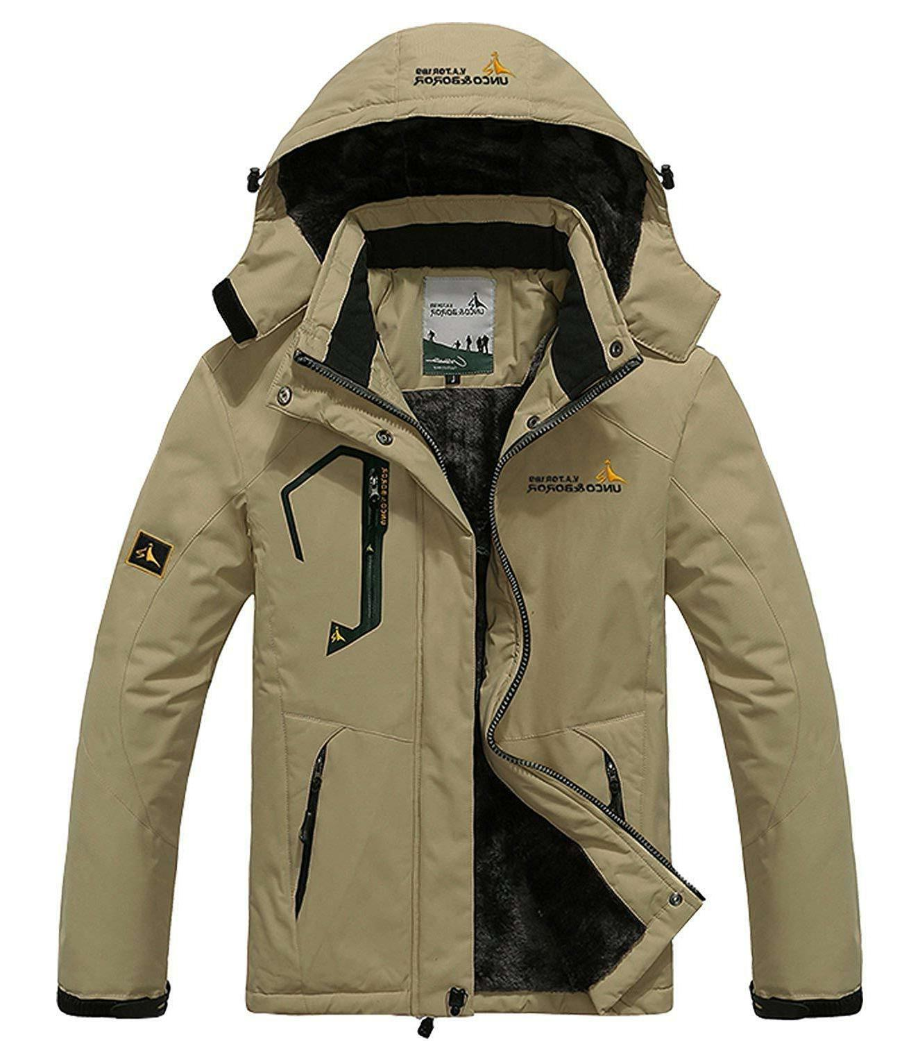 pooluly men s waterproof windproof rain snow