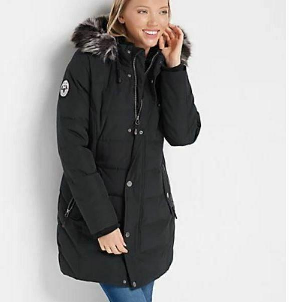 quilted down coat with removable hood
