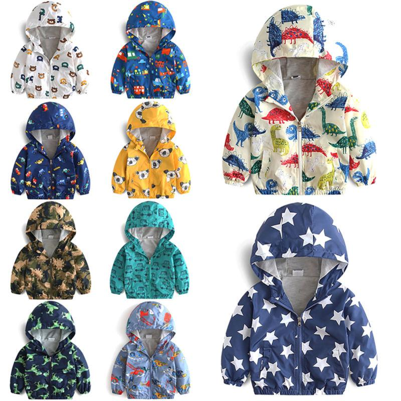 Toddler Kids Hoodie Coat Warm Windbreaker