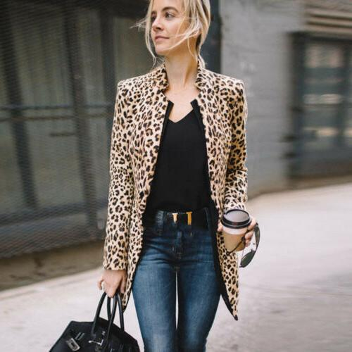 US Leopard Sweater Casual Winter Sleeve