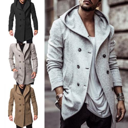 US British Overcoat Long Jacket Trench Winter Coat Outwear