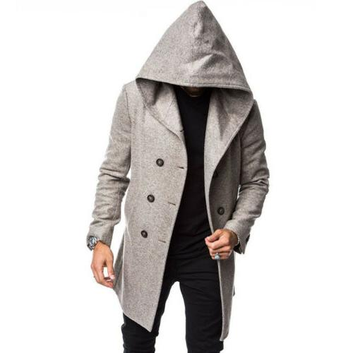US British Style Overcoat Wool Trench Outwear
