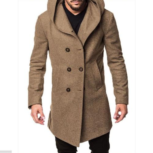 US British Overcoat Long Trench Outwear