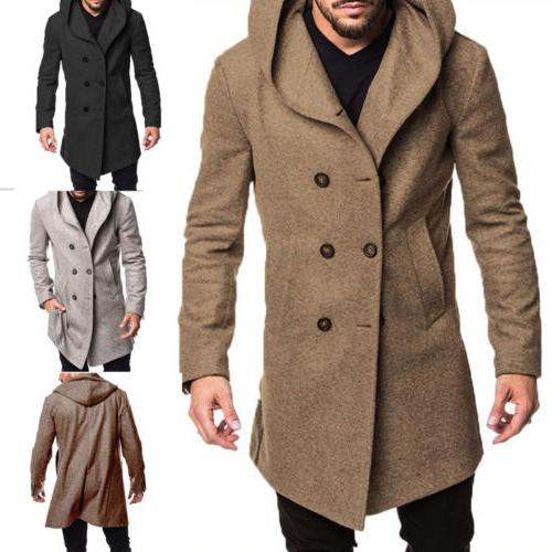 us men s british style overcoat long