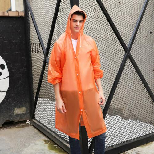 US NEW Women Waterproof Raincoat Rain Coat Poncho Rainwear